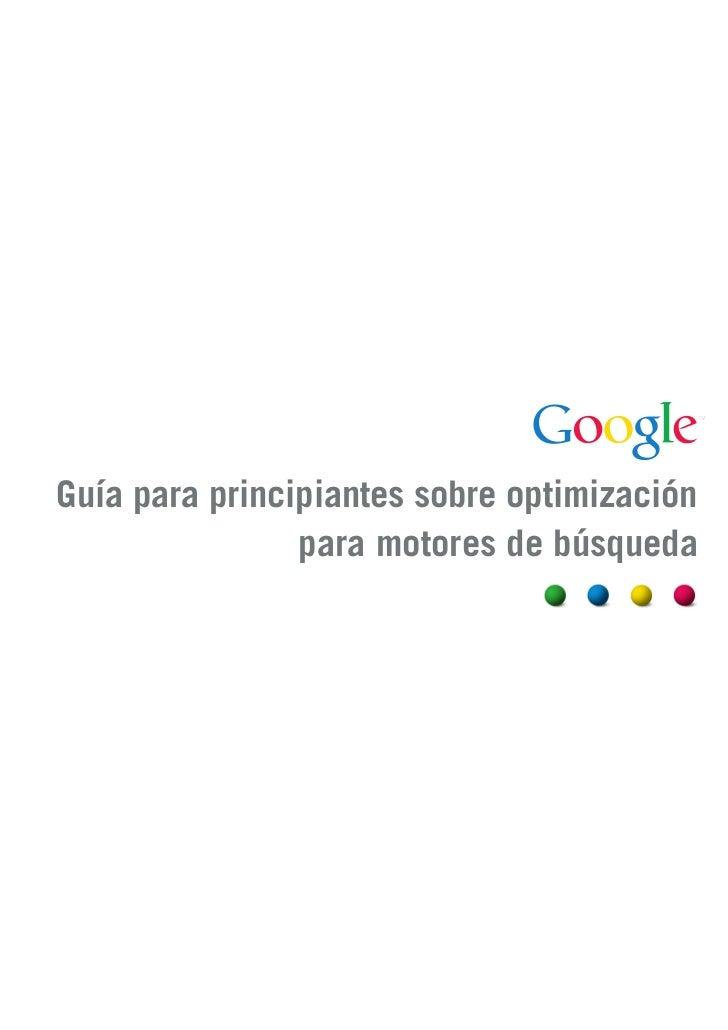Guía para principiantes sobre optimización                para motores de búsqueda