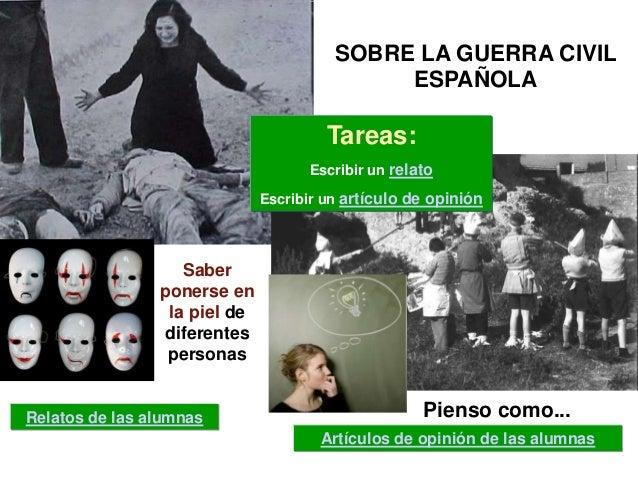 SOBRE LA GUERRA CIVIL                                             ESPAÑOLA                                       Tareas:  ...