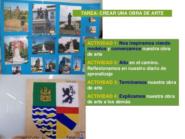 TAREA: CREAR UNA OBRA DE ARTE  ACTIVIDAD 1: Nos inspiramos viendo  modelos y comenzamos nuestra obra  de arte  ACTIVIDAD 2...