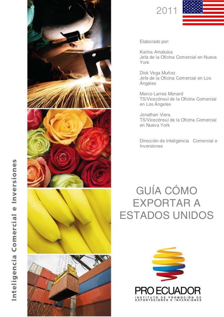 2011                      Elaborado por:                      Karina Amaluisa                      Jefa de la Oficina Come...