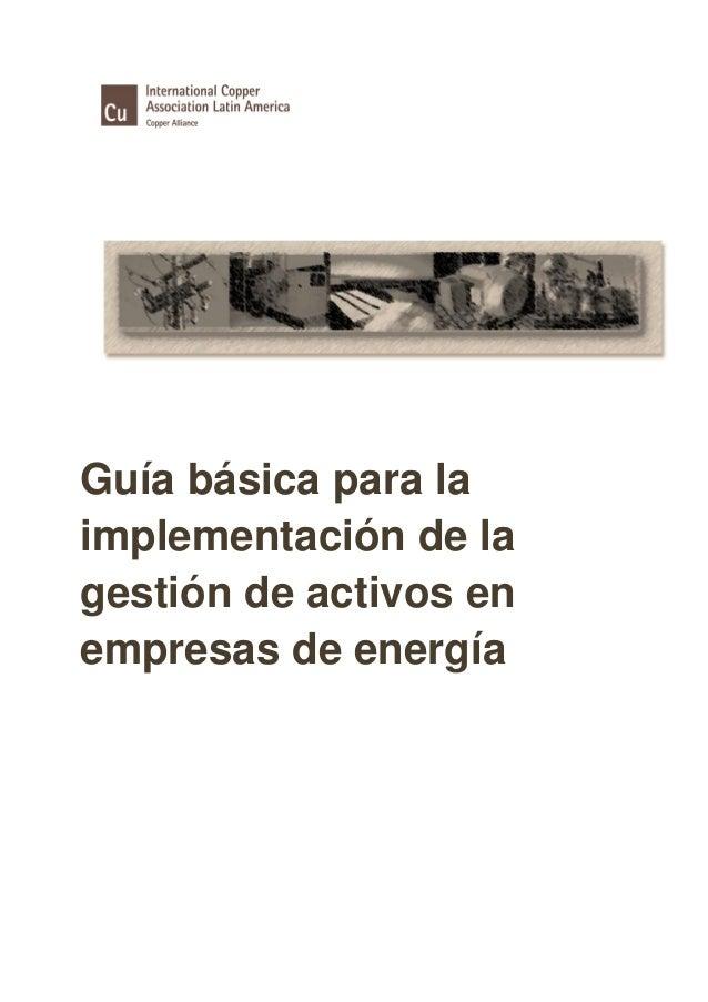 Guía básica para laimplementación de lagestión de activos enempresas de energía