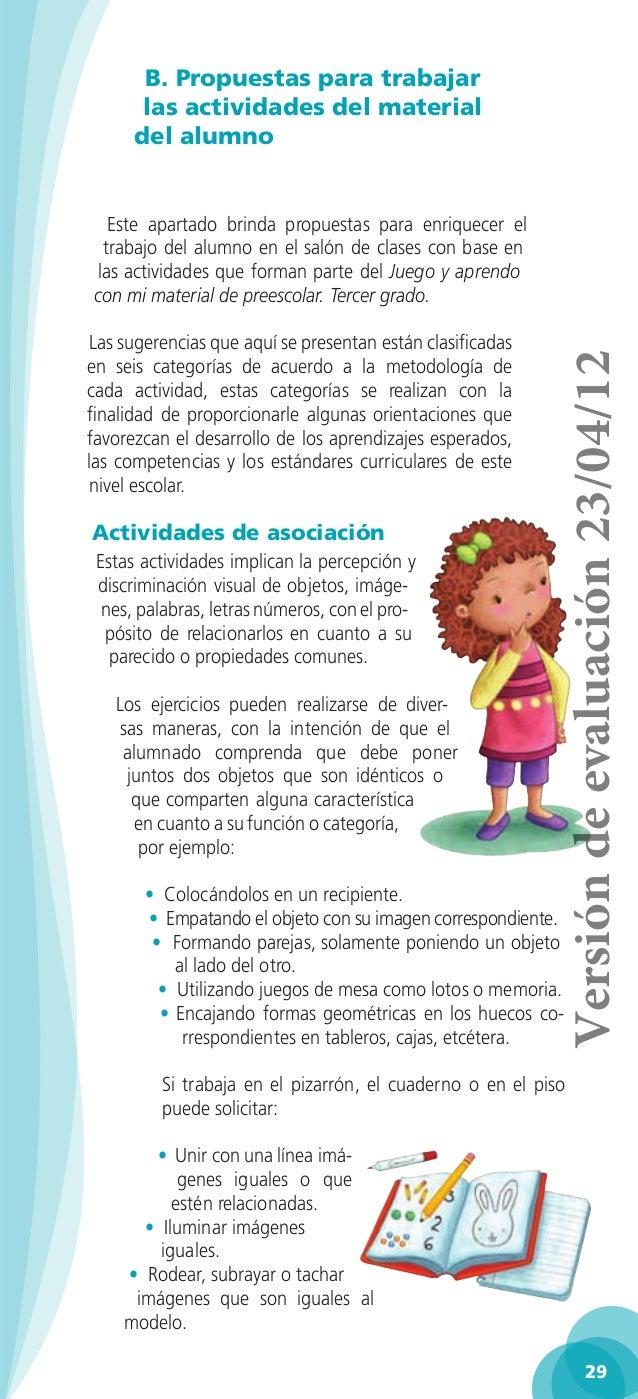 Guia para la educadora tercer grado 2013 2014 for Actividades para el salon de clases