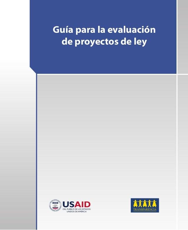 Guía para la evaluación de proyectos de ley