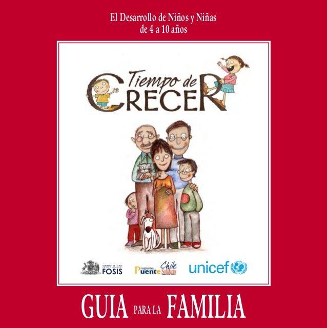 GUIA PARA LA FAMILIA  El Desarrollo de Niños y Niñas de 4 a 10 años  El Desarrollo de Niños y Niñas de 4 a 10 años  GUIA P...