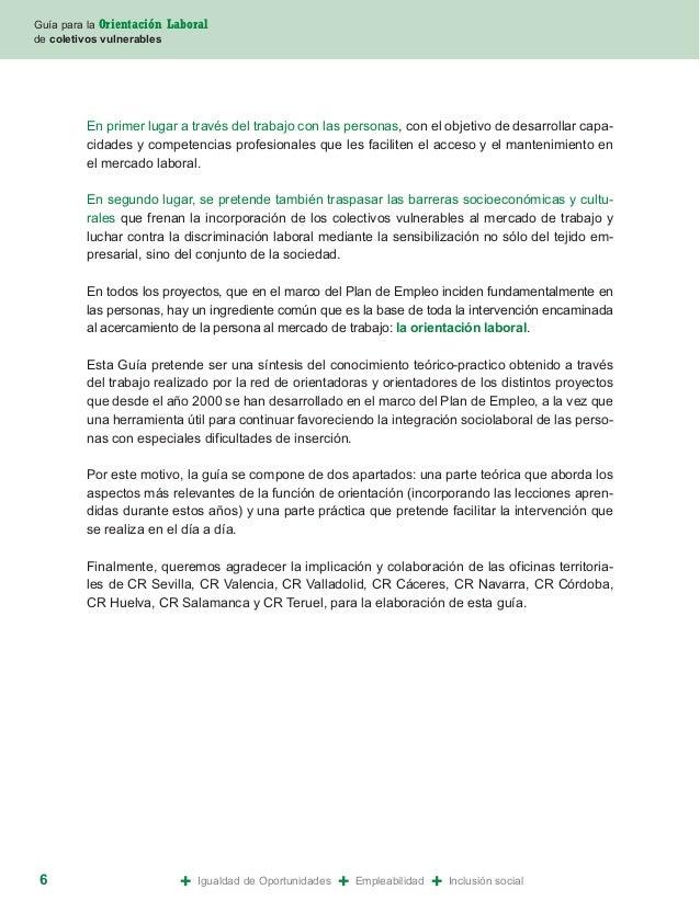 Guia para la orientacion laboral de colectivos vulnerables for Oficina de empleo caceres
