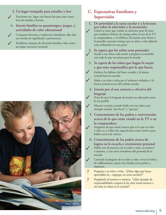 www.adi.org  3.Un lugar tranquilo para estudiar y leer Encuentre un lugar con buena luz para usar como área de estudio y...