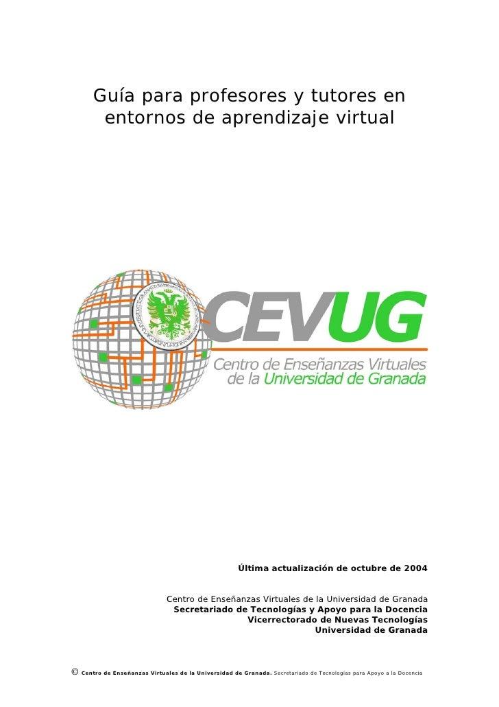 Guía para profesores y tutores en         entornos de aprendizaje virtual                                                 ...