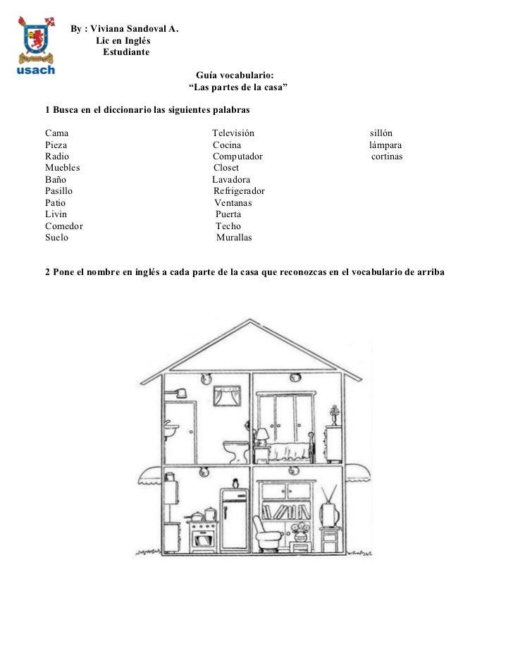 Guia partes de la casa vocabulario - La casa del ingles ...