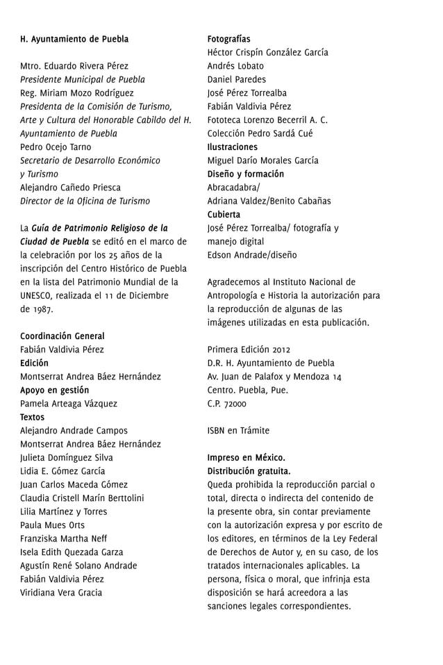 GUÍA DE PATRIMONIO RELIGIOSO DE LA CIUDAD DE PUEBLA