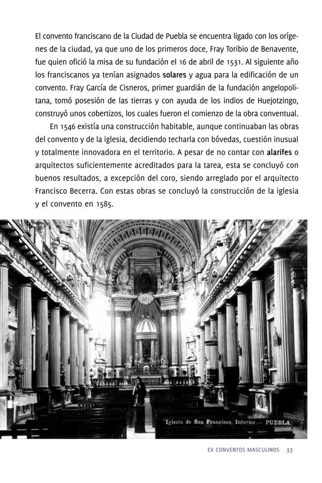 Grandes lienzos, para una gran iglesia En los muros de esta iglesia se conservan tres lienzos de tema franciscano. El prim...