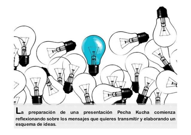 La preparación de una presentación Pecha Kucha comienza reflexionando sobre los mensajes que quieres transmitir y elaboran...