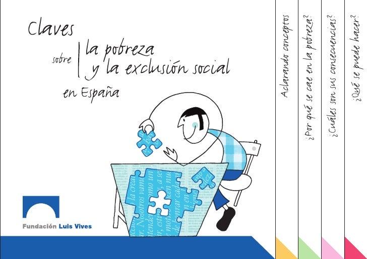 sobre                                          Claves           en España                      la pobreza                 ...