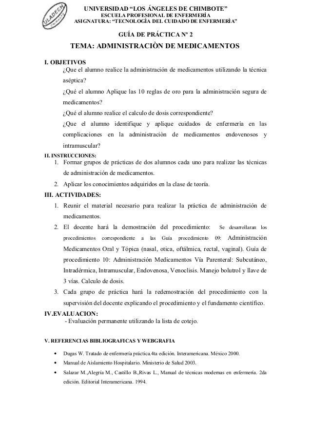 """UNIVERSIDAD """"LOS ÁNGELES DE CHIMBOTE"""" ESCUELA PROFESIONAL DE ENFERMERÍA ASIGNATURA: """"TECNOLOGÌA DEL CUIDADO DE ENFERMERÌA""""..."""