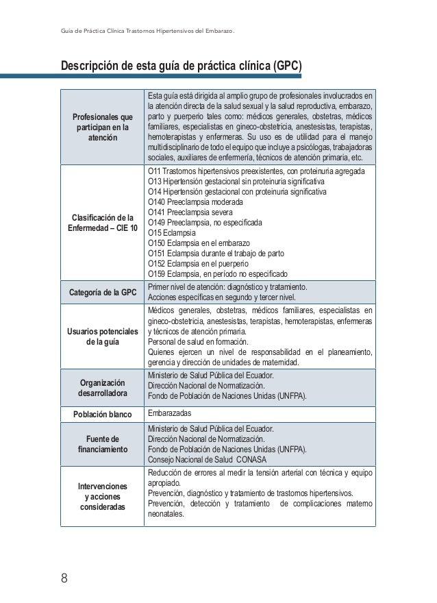 Guia practica clinica trastornos hipertensivos del embarazo