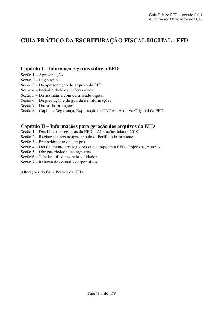 Guia prático SPED/EFD versao 2.0.1.a