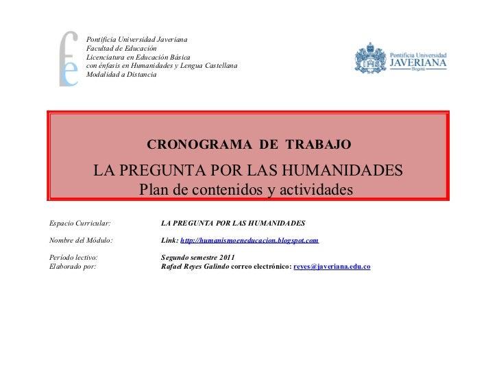 Pontificia Universidad Javeriana            Facultad de Educación            Licenciatura en Educación Básica            c...