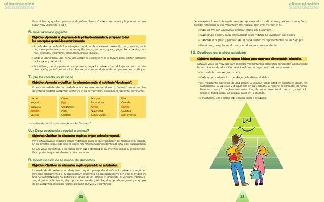 2   Actividad física, sedentarismo y peso corporal    OBJETIVO DIDÁCTICO    Fomentar entre los escolares ha´bitos alimenta...