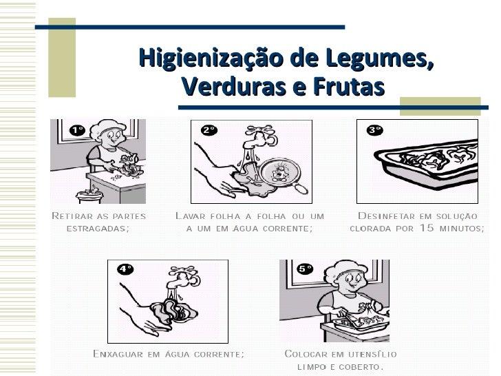 Higienização de Legumes, Verduras e Frutas