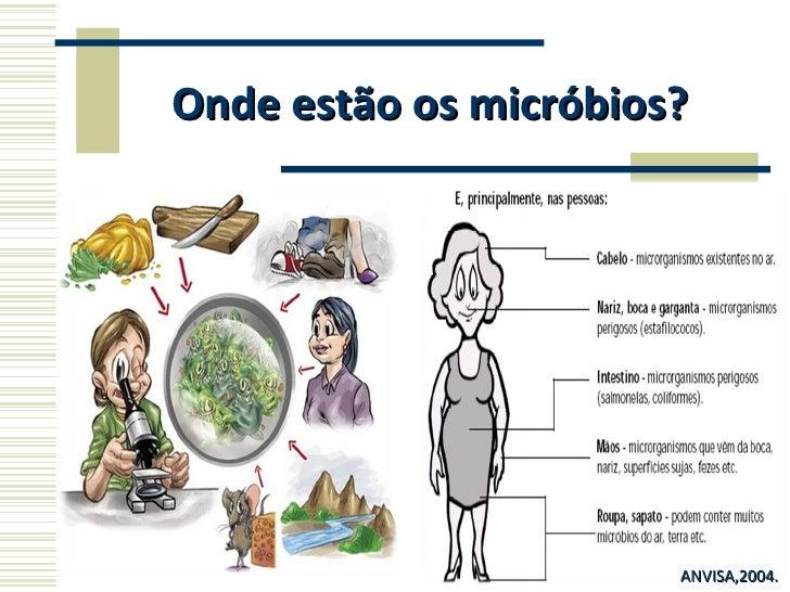 Onde estão os micróbios? ANVISA,2004.