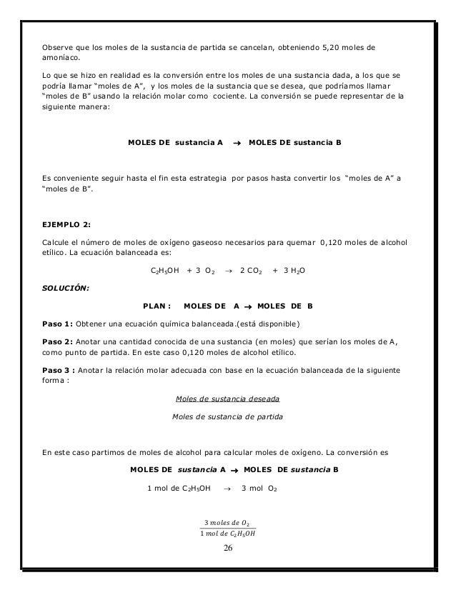 Lujo Relaciones Molares Y Mole A Conversiones Mol Hoja De Cálculo ...