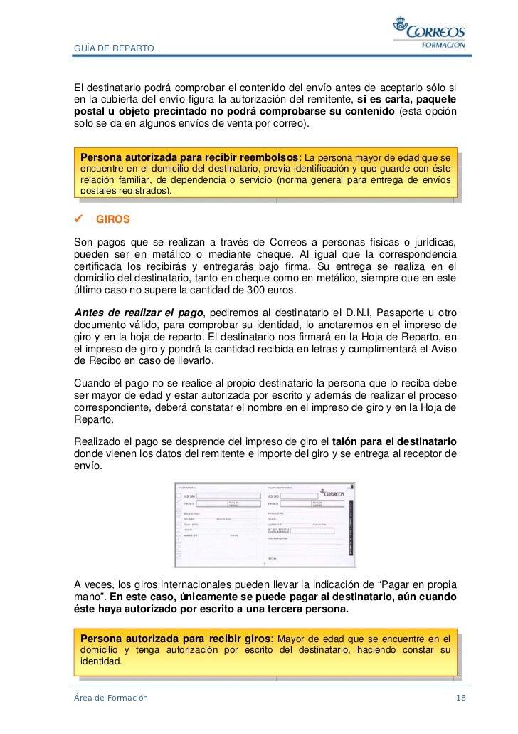Autorizacion para recoger documentos en correos