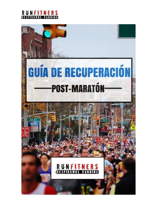 PREFACIO Correr un maratón (42.195 metros), supone un esfuerzo físico intenso que, además de agotamiento y daño muscular, ...