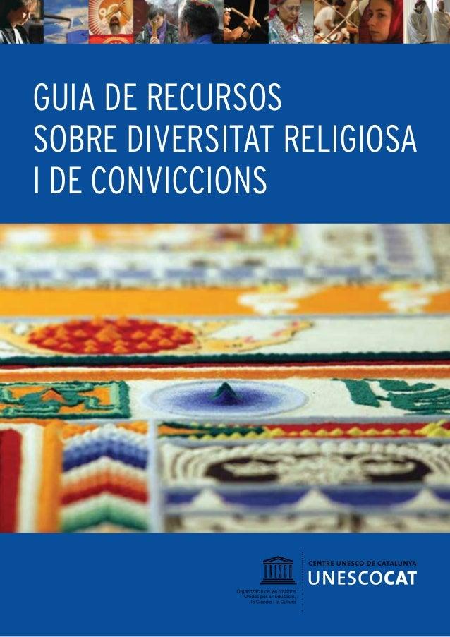 GUIA DE RECURSOS SOBRE DIVERSITAT RELIGIOSA I DE CONVICCIONS