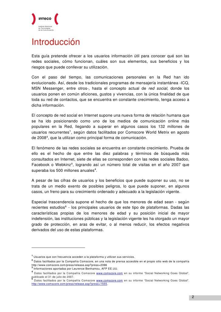 INTECO - Guía legal sobre las redes sociales, menores de edad y privacidad en la Red Slide 2
