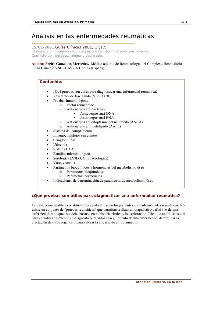 Guías Clínicas en Atención Primaria                                                                   1/1     Análisis en ...