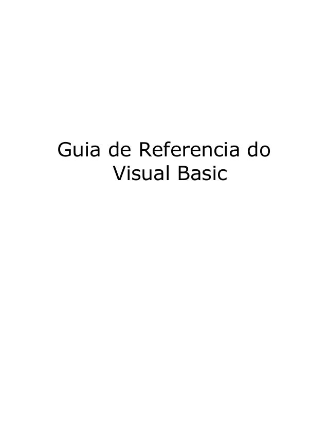 Guia de Referencia do Visual Basic