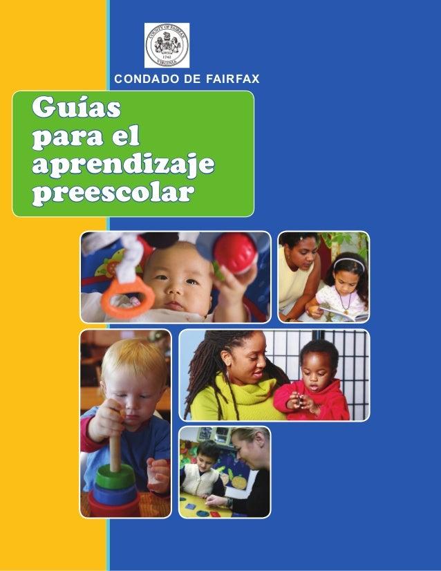 Guías para el aprendizaje preescolar CONDADO DE FAIRFAX