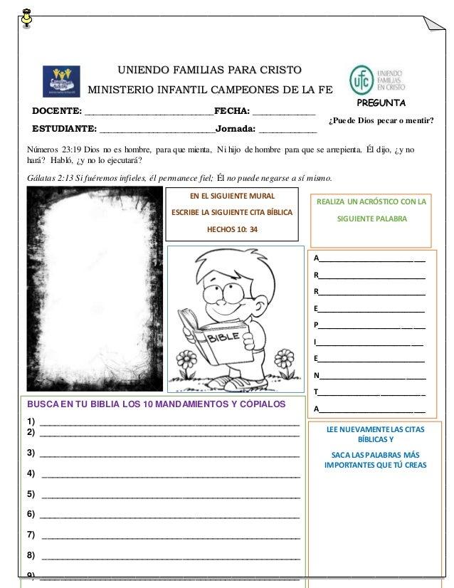 Guias Para Escuela Dominical Para Niños De 8 A 11 Años