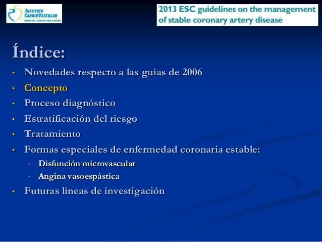 Guías Europeas 2013 Enfermedad Arterial Coronaria Estable
