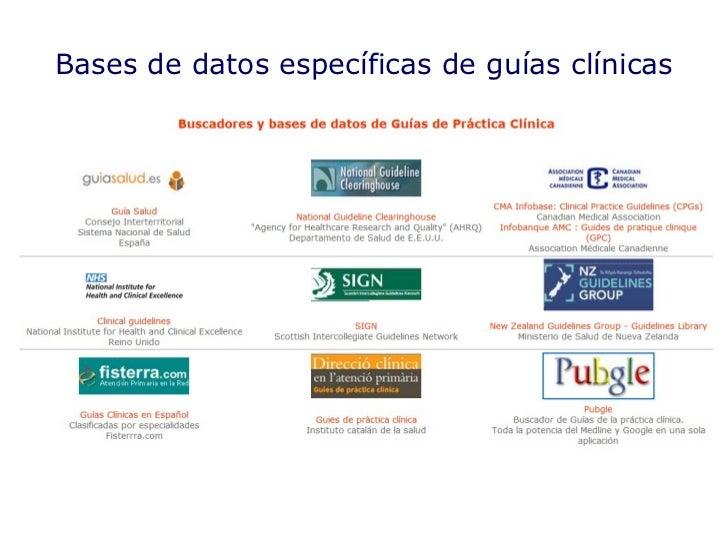 Bases de datos específicas de guías clínicas