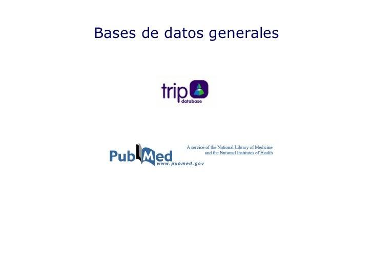 Bases de datos generales