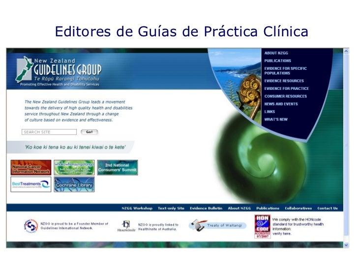 Editores de Guías de Práctica Clínica
