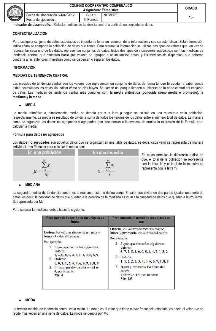 COLEGIO COOPERATIVO COMFENALCO                                             Asignatura: Estadística                        ...