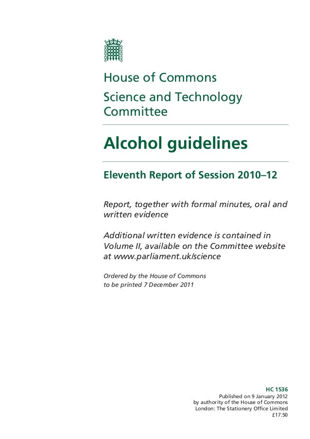 HC 1536Published on 9 January 2012by authority of the House of CommonsLondon: The Stationery Office Limited£17.50House of ...