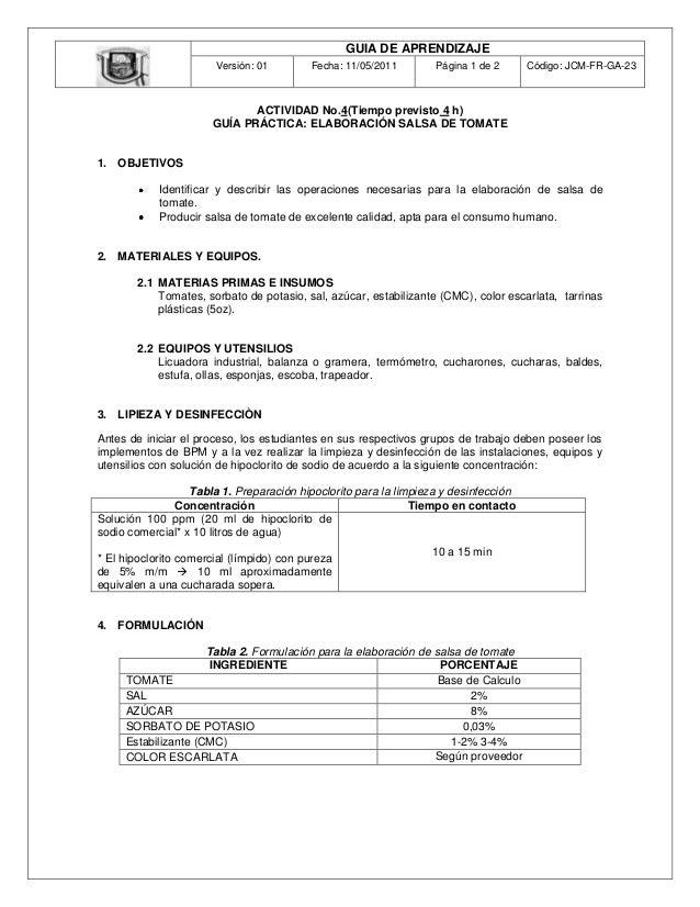 GUIA DE APRENDIZAJE                       Versión: 01        Fecha: 11/05/2011       Página 1 de 2      Código: JCM-FR-GA-...