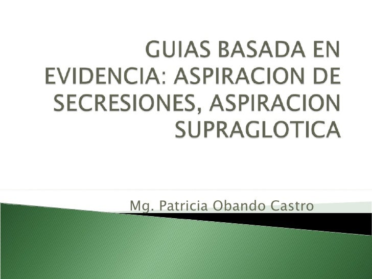 Mg. Patricia Obando Castro