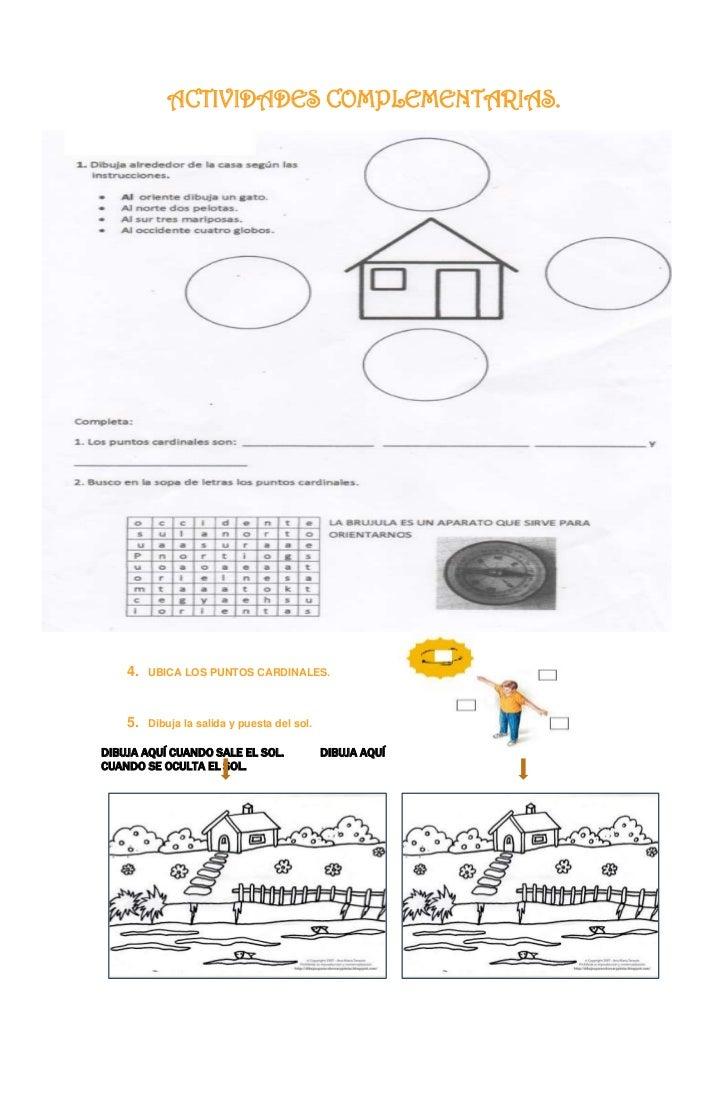 Resultado de imagen para actividades para trabajar los puntos cardinales en segundo grado