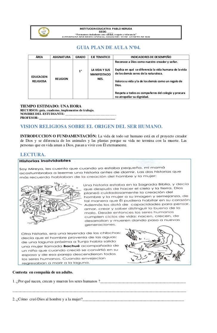 INSTITUCION EDUCATIVA PABLO NERUDA                                                        SEDE: ____                      ...