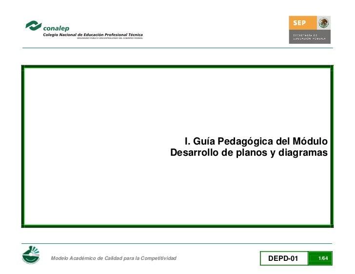 I. Guía Pedagógica del Módulo                                               Desarrollo de planos y diagramasModelo Académi...