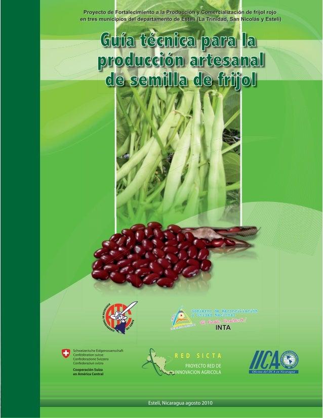 INTRODUCCIÓN  L  a producción de frijol se caracteriza por ser una actividad de pequeños productores en las diferentes zon...