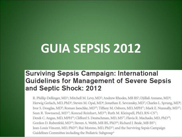 GUIA SEPSIS 2012