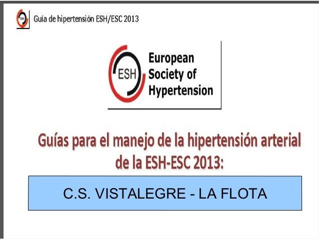 Guia para el manejo de la hipertension arterial ESH/ESC 2013