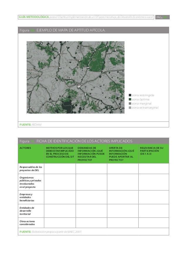 GUÍA METODOLÓGICA para el Diseño e Implementación de un SIT para Iniciativas de Desarrollo Económico Local   PÁG. 65Figura...
