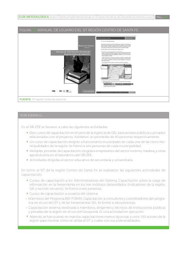 GUÍA METODOLÓGICA para el Diseño e Implementación de un SIT para Iniciativas de Desarrollo Económico Local   PÁG. 93FIGURA...