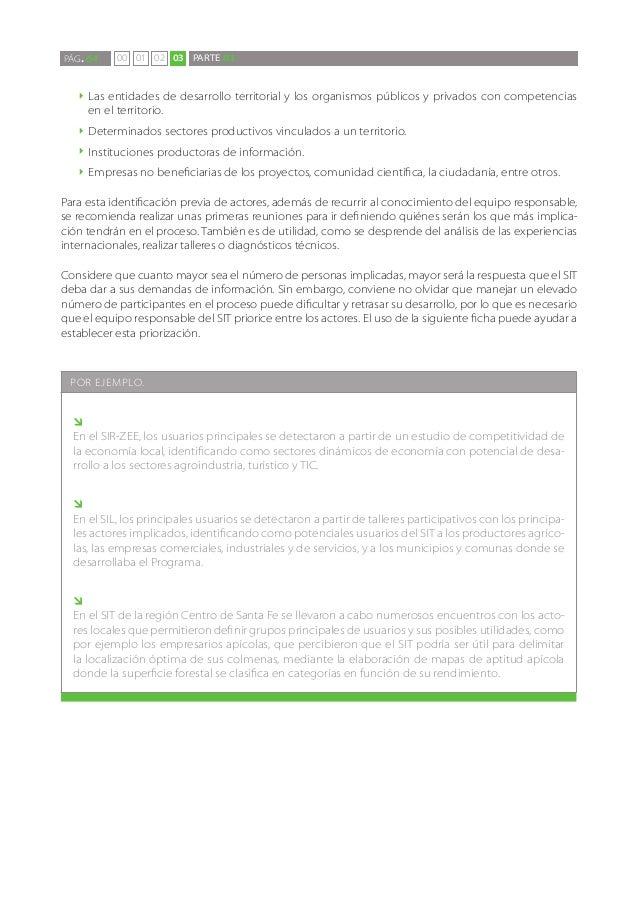 PÁG. 64     00 01 02 03 PARTE 03   `` Lasentidades de desarrollo territorial y los organismos públicos y privados con comp...