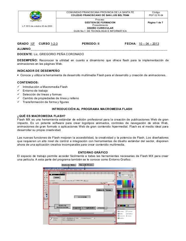 COMUNIDAD FRANCISCANA PROVINCIA DE LA SANTA FE              Código                                         COLEGIO FRANCIS...